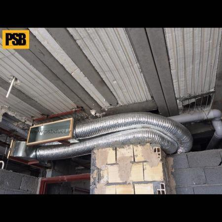 flexible air duct with elastomeric insulation